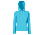 Lady-Fit Hooded Sweat - 80% katoen , 20% polyester, Weight: 260 g/m2,AZURE BLUE.