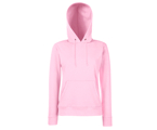 Lady-Fit Hooded Sweat - 80% katoen , 20% polyester, Weight: 260 g/m2,LIGHT PINK.