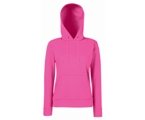 Lady-Fit Hooded Sweat - 80% katoen , 20% polyester, Weight: 260 g/m2,Fuchsia.