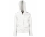 Lady-Fit Hooded Sweat Jacket (met ritssluiting) - 70% katoen , 30% polyester, Weight: 260 g/m2.
