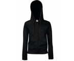 Lady-Fit Hooded Sweat Jacket (met ritssluiting)- 70% katoen , 30% polyester, Weight: 260 g/m2.